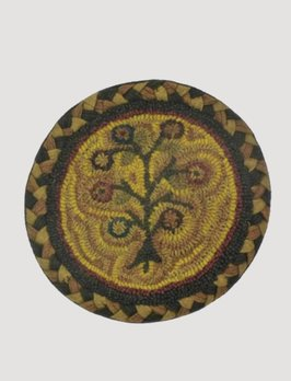 Tree of Life Hooked Chair Pad