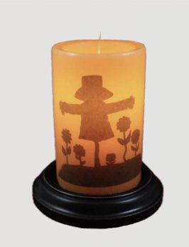 C R Designs Vintage Scarecrow Candle Sleeve
