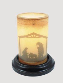 C R Designs Vintage Nativity Jesus Candle Sleeve
