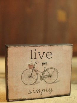 Live Simply Block Sign