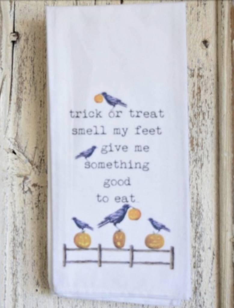 1803 Candles Trick Or Treat Flour Sack Towel