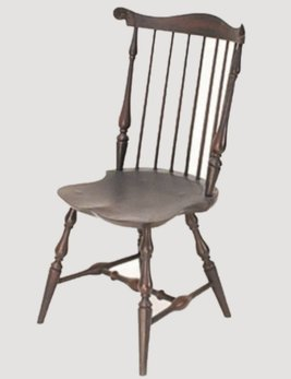 Lawrence Crouse Workshop New England Fan Back Side Chair Shield Seat