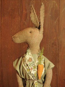 Primitive Handmade Rabbit