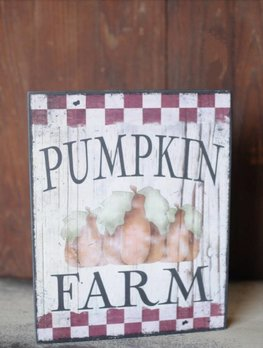 Pumpkin Farm Autumn Sign