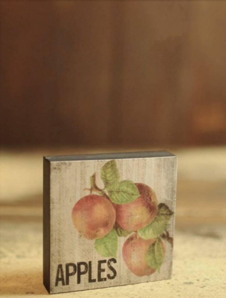 Apples Block Sign
