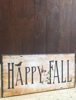 Happy Fall Block Sign