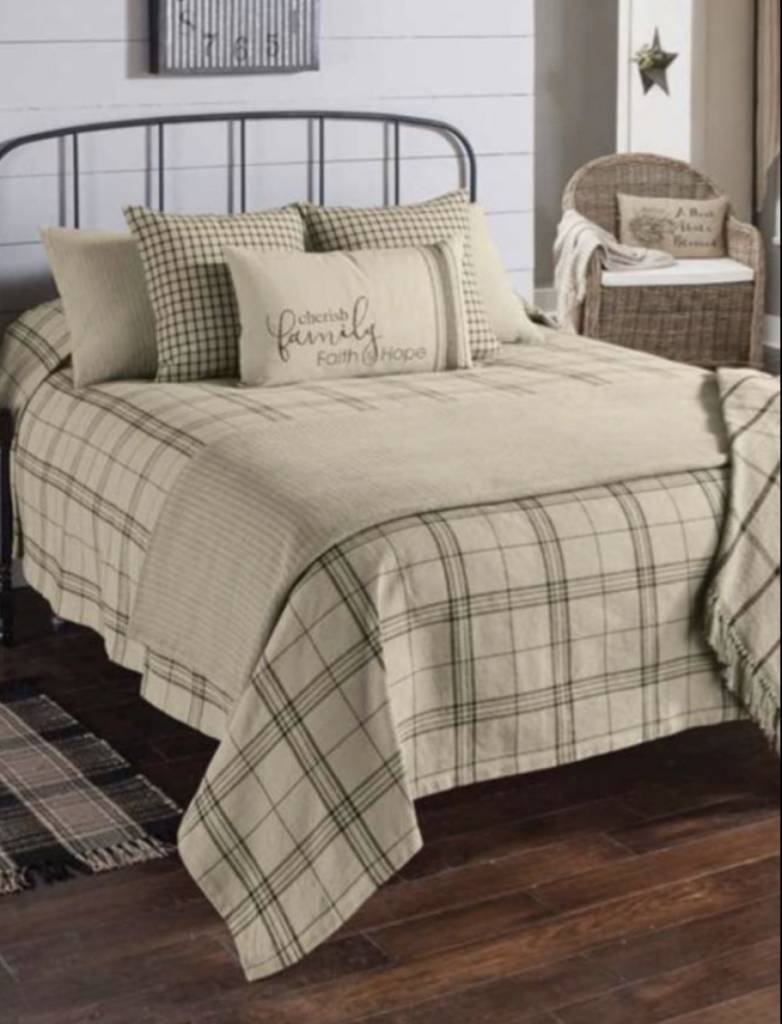 fieldstone plaid queen black coverlet country bedding nana s