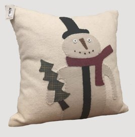 Home Collections By Raghu Primitive Snowman Nutmeg Pillow