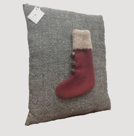 Old Time Red Stocking Pillow