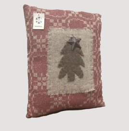 Red Christmas Tree Pillow