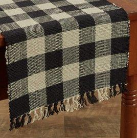 Park Designs Wicklow Yarn Table Runner Black
