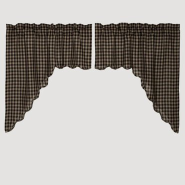 Black Check Curtains