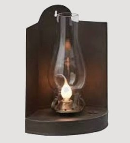 Park Designs Trifold Tin Lamp w/Glass Globe
