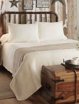 Park Designs Farmington Queen Bedspread - Cream