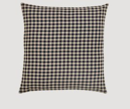 "VHC Brands Black Check Fabric Euro Sham 26x26"""