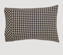 VHC Brands Black Check Pillow Case Set of 2