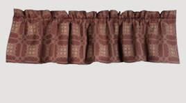 Home Collections By Raghu Smithfield Jacquard  Red Valance