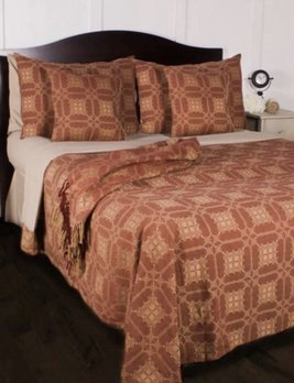 Home Collections By Raghu Smithfield Jacquard Queen Red Bed Cover