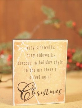 Feeling Of Christmas Block Sign