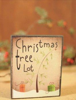 Christmas Tree Lot Block Sign