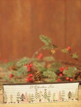 O Christmas Tree Block Sign