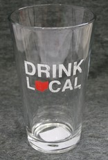 Be Ohio Proud Drink Local Pint Glass - Red