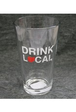 Drink Local Pint Glass - Red