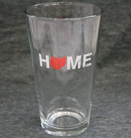 Be Ohio Proud Home Pint Glass - Red