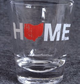 Be Ohio Proud Ohio Home Shot Glass- Red/White