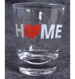 Be Ohio Proud Ohio Home Shot Glass- Red/White