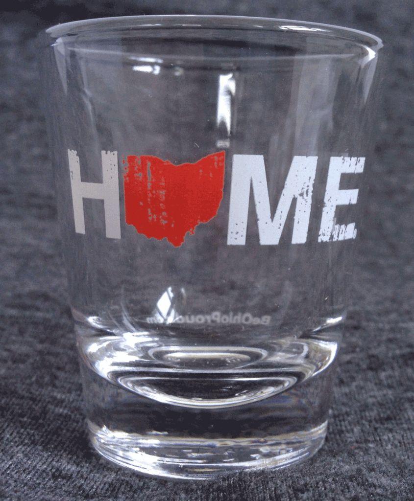 Ohio Home Shot Glass- Red/White