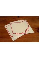 Be Ohio Proud Red Ohio Outline Sticker