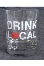 Be Ohio Proud Drink Local Rocks Glass - Red