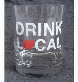 Be Ohio Proud Drink Local Rocks Glass - Red / S