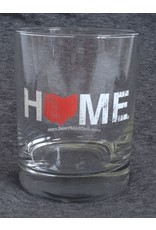 Be Ohio Proud Home Rocks Glass - Red