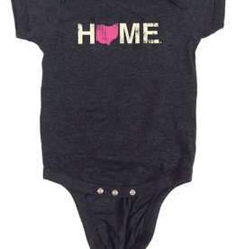 Be Ohio Proud Home Ohio Pink Onesie
