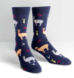 Sock It To Me Llama Drama - Men's Crew Socks