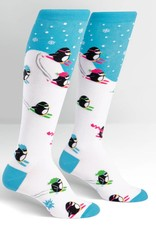 Sock It To Me Downhill Penguins - Women's Knee High Socks