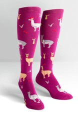 Sock It To Me Llama Drama - Women's Knee High Socks