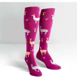 Sock It To Me Llama Drama - Women's Knee High Socks