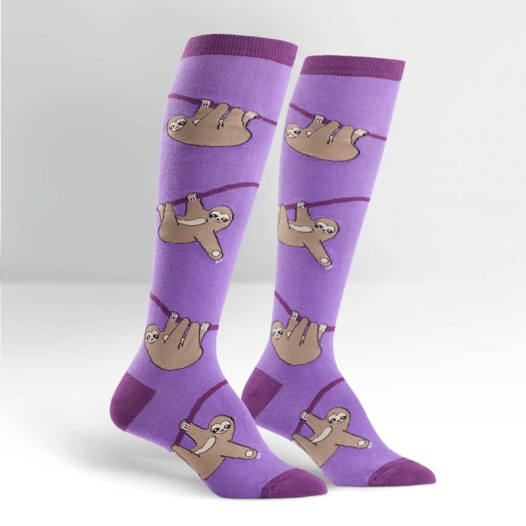 Sock It To Me Sloth - Women's Knee High Socks