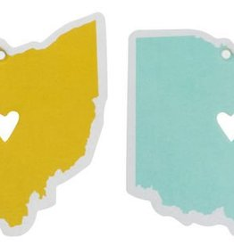 About Face Designs Ohio Air Freshener - Blue / Yellow