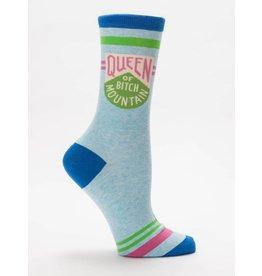 BlueQ Queen Of Bitch Mountain Crew Socks