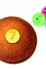 Cookut* Party Cake Slice Marker - 5, 6, 7, 9