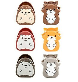 Kikkerland Designs Woodland Bag Clips Set of 6