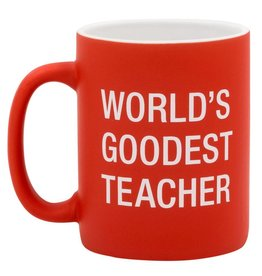 About Face Designs Worlds Goodest Teacher - Mug