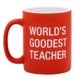 About Face Designs Worlds Goodest Teacher - Mug