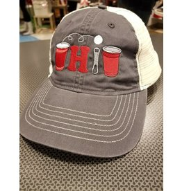 Bink Davies Pong Ohio Hat - Charcoal/White