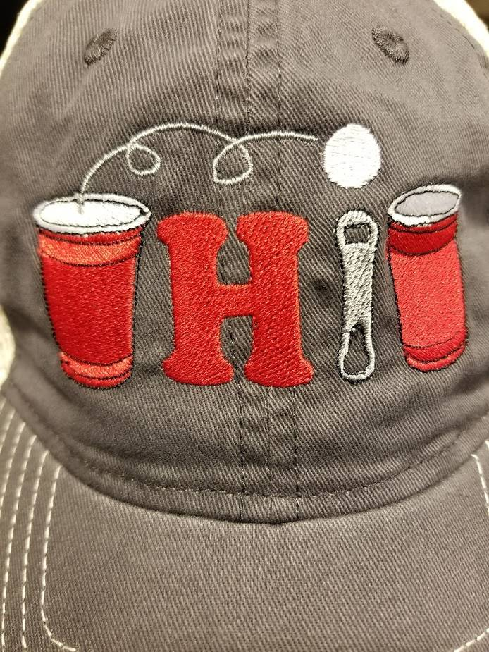 Bink Davies SALE! Pong Ohio Hat - Charcoal/White