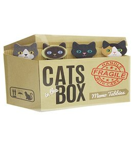 Streamline Cats in the Box Memo Tabs